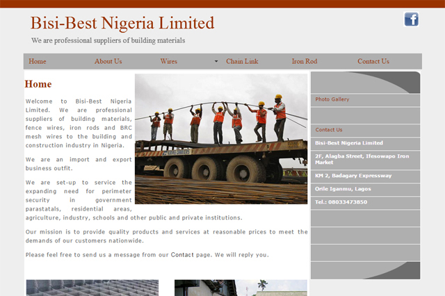 Bisibest Nigeria Limited website designed by Caseray Solutions Limited