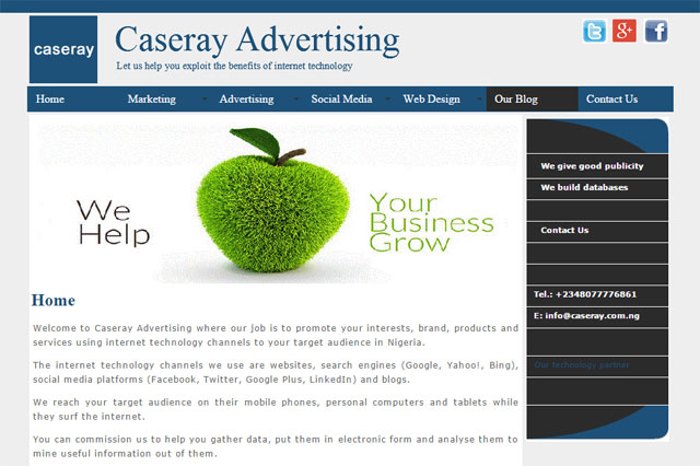 Caseray Advertising will help your business grow in Lagos, Nigeria