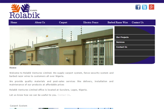 Rolabik Ventures Limited website design by Caseray Solutions website design company Lagos, Nigeria